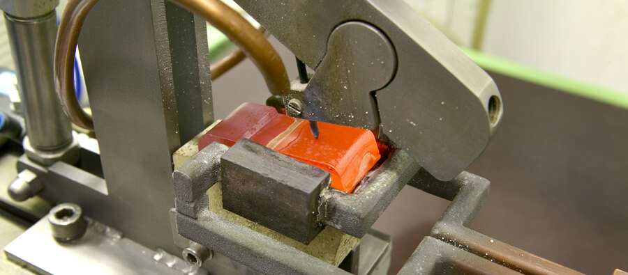 A contactor being induction brazed