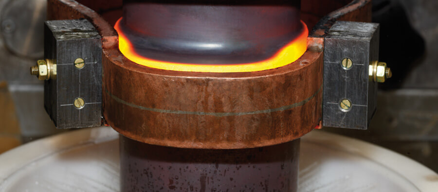 Hardening of camshafts with induction heating