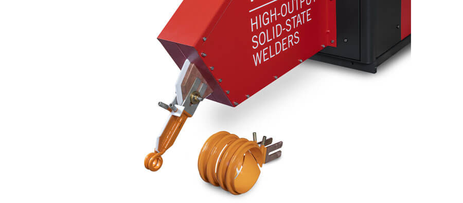 Coil changes take only seconds, with the welder adjusting ­automatically to each tube dimension.